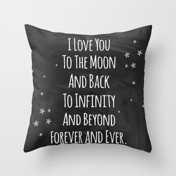 Love You Throw Pillow by Jeans and Tees and Travel and Cakes