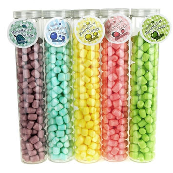 Marshmallow Candy Plastic Tube Party Favor, 200-gram, 12-Inch