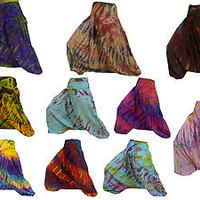 REAL TIE DYE HAREM PANTS / TROUSERS -  YOGA HIPPY FESTIVAL - HAND DYED - (MX2)