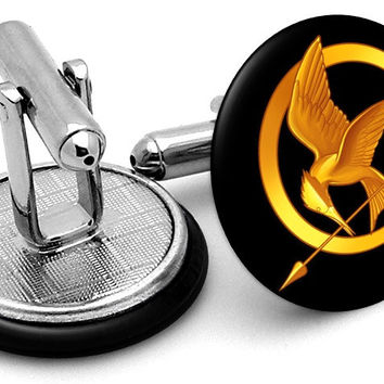 Hunger Games Mockingjay Cufflinks