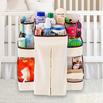 New Rooms Nursery Hanging Storage Bag Baby Cot Bed Crib Organizer  Toy Diaper Pocket for Newborn Crib Bedding Set