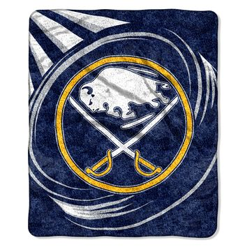 """Sabres    OFFICIAL National Hockey League, """"Puck"""" 50""""x 60"""" Sherpa Throw  by The Northwest Company"""