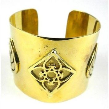 Bomb Casing with Leaf Design Cuff - Craftworks Cambodia
