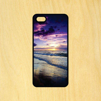 Beautiful Beach Sunset Phone Case iPhone 4 / 4s / 5 / 5s / 5c /6 / 6s /6+ Apple Samsung Galaxy S3 / S4 / S5 / S6