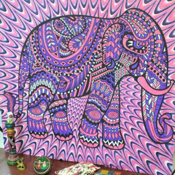 Elephant Bohemian Tapestry Colored Printed Decorative Mandala Tapestry Indian 130cmx150cm 153cmx203cm Boho Wall Carpet