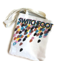 Switchfoot Bag Upcycled T-shirt Tote Bag Band Bag