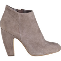 Steve Madden Panelope Ankle Boot Taupe Suede - Jildor Shoes, Since 1949
