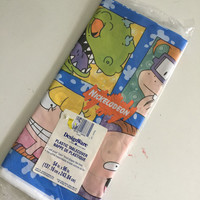 Vintage Rugrats Nickelodeon Plastic Table Cover