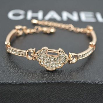 DCCK0OQ Awesome Shiny Hot Sale New Arrival Gift Great Deal Luxury Lock Stylish Korean Bangle Bracelet [10417739284]