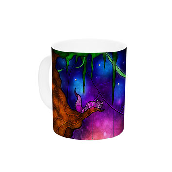 "Mandie Manzano ""Fairy Tale Alice in Wonderland"" Ceramic Coffee Mug"