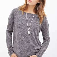 FOREVER 21 Classic Heathered Sweater