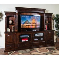 Sunny Designs Santa Fe Entertainment Wall In Dark Chocolate