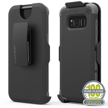 Pure Gear Dualtek Hip case 360 holster Kickstand Phone Case for Galaxy S8 Plus