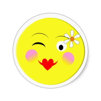Emoji Fun Cute Trendy Smiley Faces Classic Round Sticker