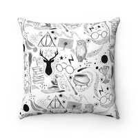 Home - Faux Suede Square Pillow