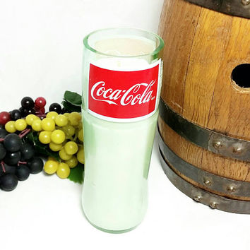 Recycled Coca Cola Bottle Scented Soy Wax Candle/Coke Bottle Candle/Glass Bottle/Fruit Slices Scent