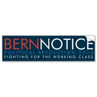 Bern Notice Political Revolution 2016 Car Bumper Sticker