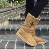 DCCK8X2 Cross studded Faux Ugg boots
