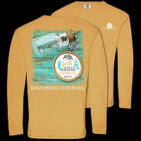 Southern Couture Size of A Mustard Seed Faith Comfort Colors Long Sleeve T-Shirt