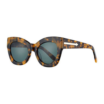 Karen Walker Northern Lights Cat-Eye Sunglasses, Brown