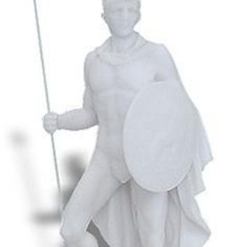 Ares Mars God of War Statue with Shield and Spear 12.5H