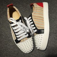 Cl Christian Louboutin Low Style #2052 Sneakers Fashion Shoes