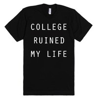 In Ruins-Unisex Black T-Shirt