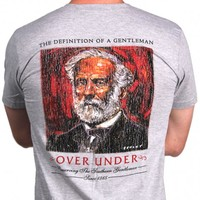 Robert E. Lee Short Sleeve Tee in Grey by Over Under Clothing