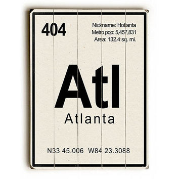 Atlanta Element by Gi Art Lab Wood Sign