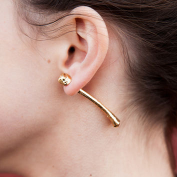 14kt Gold Plated Kentucky Fried Chicken Bone Earrings