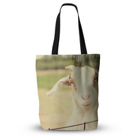 "Angie Turner ""Happy Goat"" Smiling Animal Everything Tote Bag"