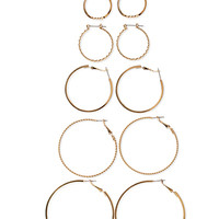 Graduated Twisted Hoop Set