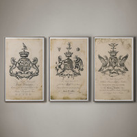 18th C. English Armorial Engravings Large