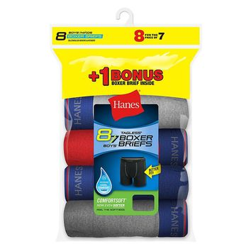 Hanes Boys Boxer Brief Bonus Pack P7+1