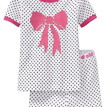 Old Navy Polka Dot PJ Short Sets For Baby Size 4T - In the pink