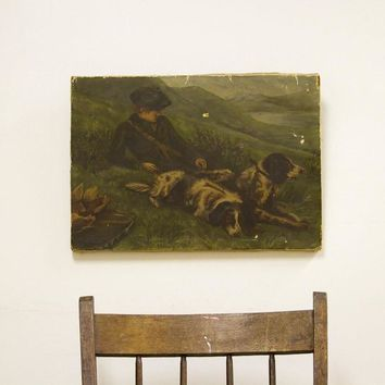 Hunting Game Antique Painting