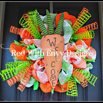 Easter Wreath, Spring Wreath, Easter, Spring, Spiral Wreath, Easter Decoration, Carrot