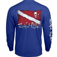 Dive Flag and Skull Long Sleeve Tee