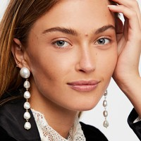 Free People Pretty in Pearls Drop Earrings