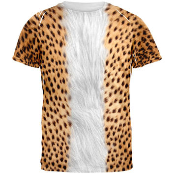 Halloween Cheetah Costume All Over Adult T-Shirt