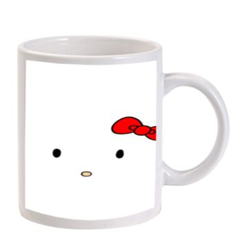 Gift Mugs | Hello Kitty White Face Ceramic Coffee Mugs
