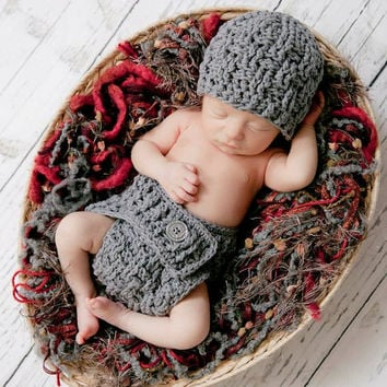 Set of 2 Crochet Patterns for Texture Weave Beanie Hat and Diaper Cover - Multiple Sizes - Welcome to sell finished items