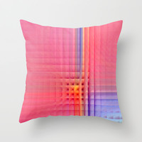Pink Mosaic Throw Pillow by Christine baessler