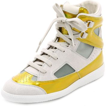 High Top Cutout Sneakers
