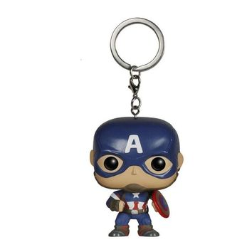 Marvel The Avengers Captain America Keychain Action Figures Toy Doll with Retail Box