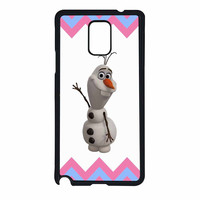 Olaf Disney Frozen Blue Pink Chevron Samsung Galaxy Note 4 Case