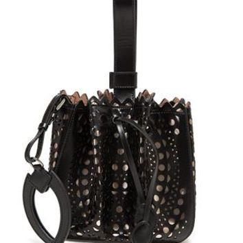 AZZEDINE ALAÏA | Laser Cut Mini Bucket Bag | Browns fashion & designer clothes & clothing