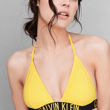 Calvin Klein Yellow Triangle Bikini Top - Urban Outfitters