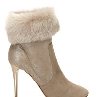 JIMMY CHOO White Tempo Anke Boot