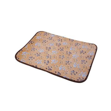 Light Coffee Bamboo Pet Dog Double-sided Mat Summer Puppy Cooling Mat Pad Bed Blanket